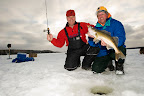 Ice fishing for Walleye in Algoma