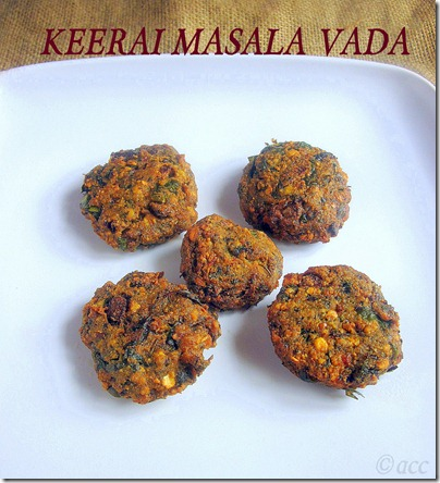 keerai vada 3