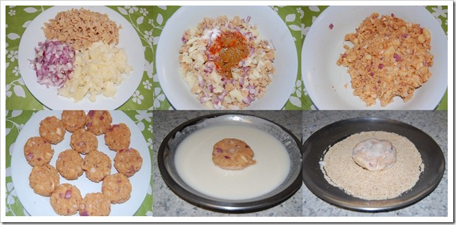 Soya chunk cutlet Process
