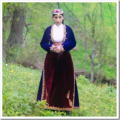Armenian woman in national costume