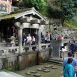 a cleanse with water from the kiyomizu hills in Kyoto, Kyoto, Japan