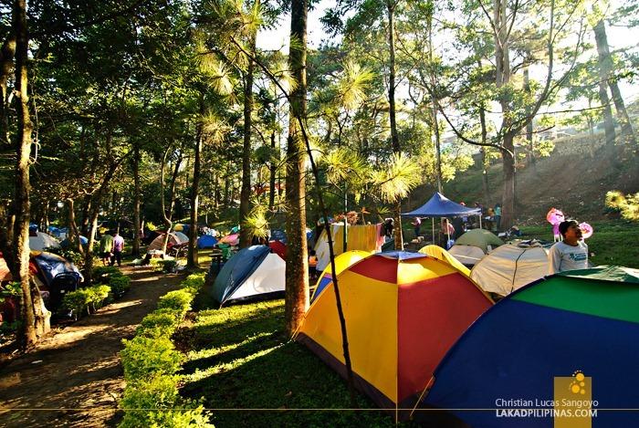 Campers at Baguio's Panagbenga Float Parade