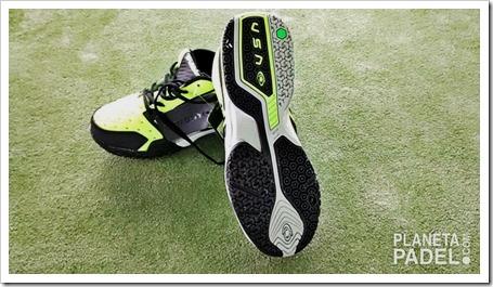 Análisis Zapatillas pádel VISION pro V60115 Color Verde/Lima suela mixta Análisis