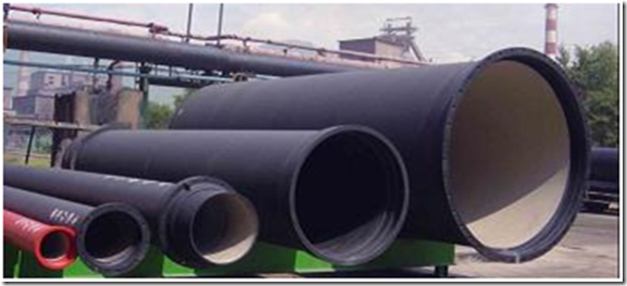 Manufacturing process of ductile pipes by the