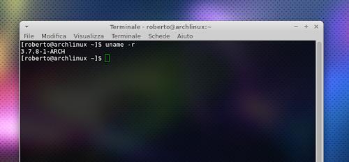 Linux 3.7.8 su Arch Linux