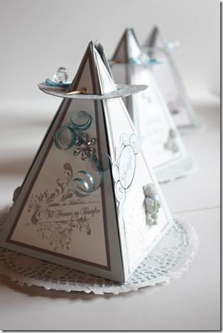 Dåpsinvitasjoner pyramide kort invitasjon baby blå IMG_1724