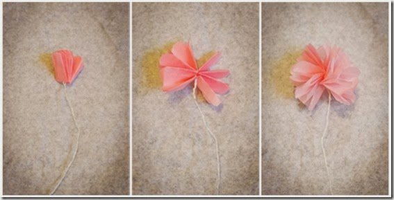 DIY Valentine\'s Day Doily Garland and Mini Tissue Paper Flowers ...