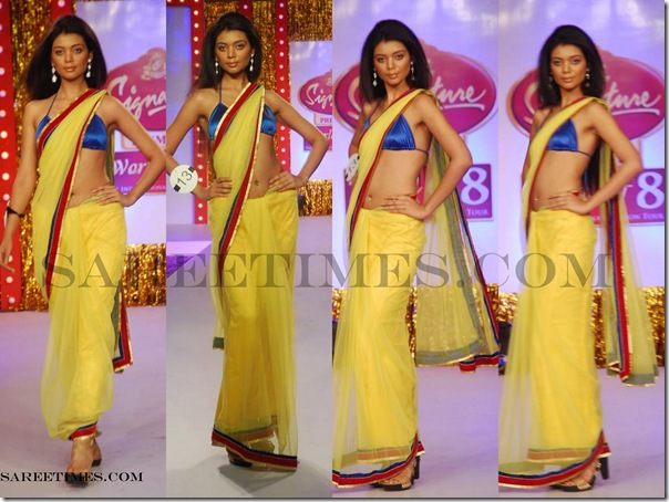 Signature_Fashion_Show_Yelow_Designer_Shimmer_Saree
