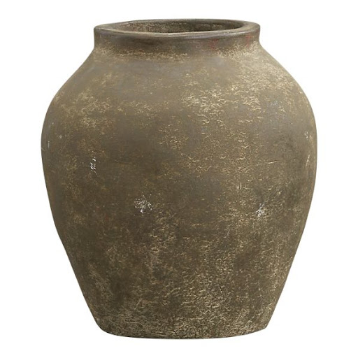 This weathered jar looks like it just got off the boat from Italy. It will add a great rustic element to your backyard. (crateandbarrel.com)