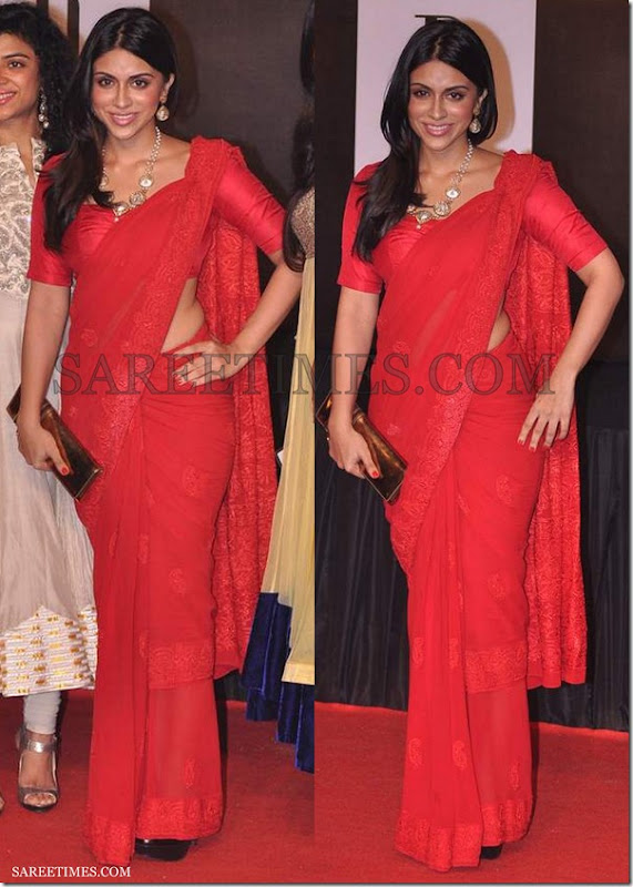 Zoa_Morani_Red_Saree