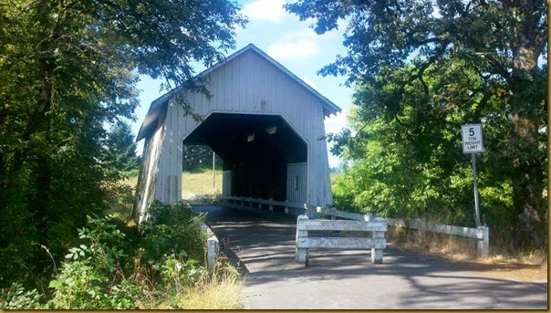 covered bridge on sheep barn road