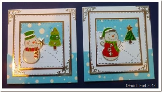 snowman sticker card............