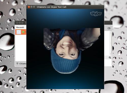 Skype e l'immagine capovolta