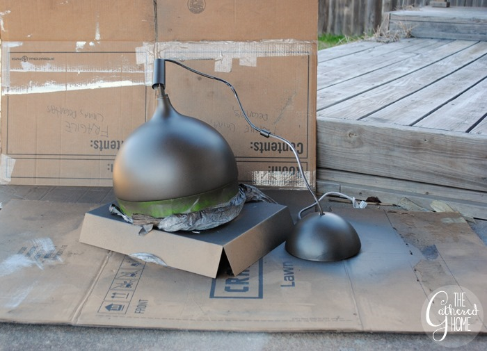 spray painting ikea vaster light fixture