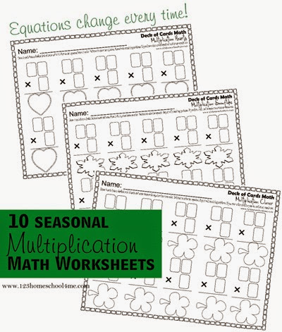 math worksheets to help kids 2nd, 3rd, and 4th grade practice multiplication