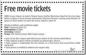 Free-GSC-Cheras-Leisure-Mall-Movie-Ticket-2011-EverydayOnSales-Warehouse-Sale-Promotion-Deal-Discount