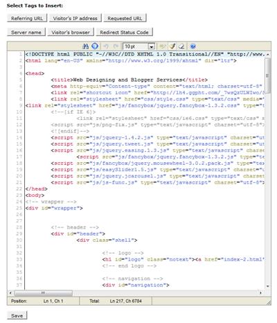 error page editor