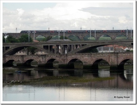 Three bridges of Berwick upon Tweed