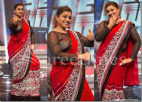Roja_Red_Printed_Saree