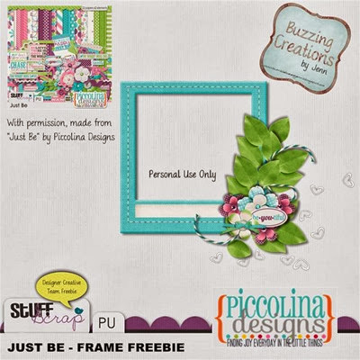 Piccolina Designs - Just Be - Frame Freebie Preview