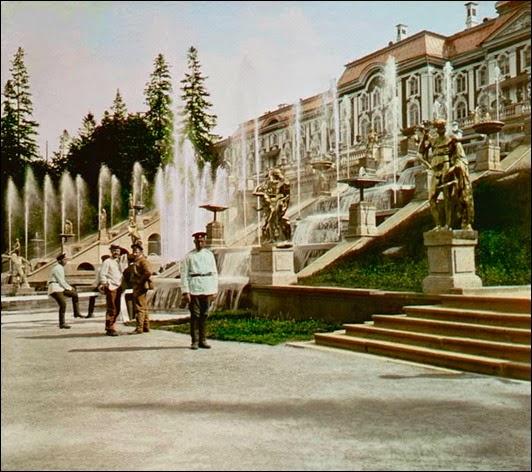 F. Kr√°tkňė: Peterhof, Kask√°dy ze strany<br /><br />1896<br /><br />√£. 39