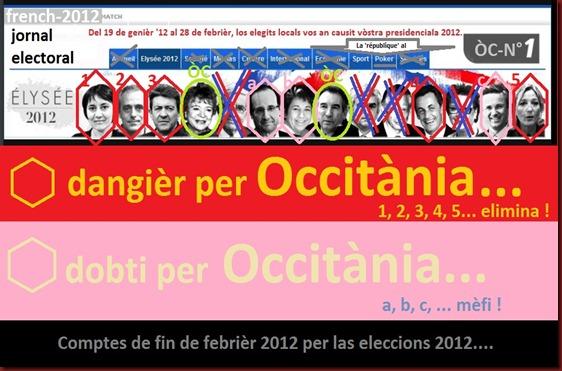 resulta 29 febrièr 2012  adobat per las eleccions 2012 ligat a l'occitan