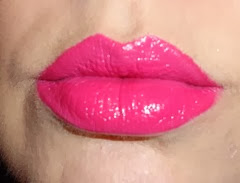 DeVine Goddess Lipstick in Eros on lips