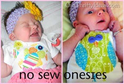 No Sew Onesies
