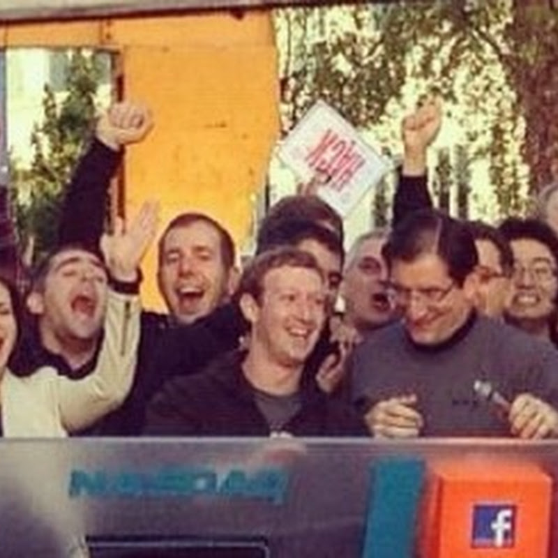 See all the photos Facebook employees are posting to Instagram on IPO day