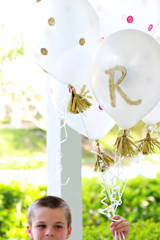 balloons with dots and tassels