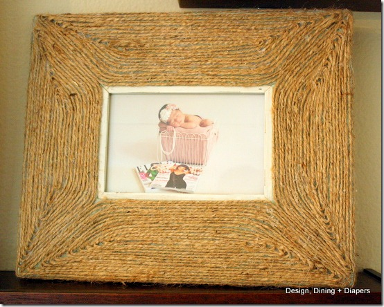 diy projects with jute--make a jute wrapped picture frame