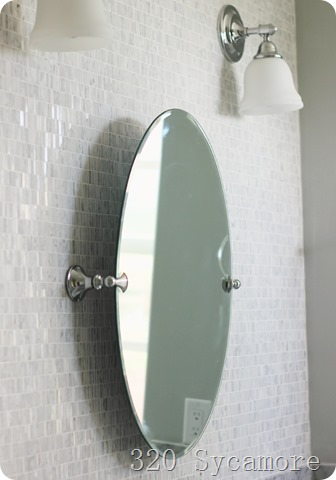 moen glenshire chrome mirror