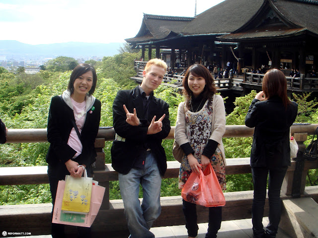 Japanese girls and matt at kiyomizu in Kyoto, Kyoto, Japan