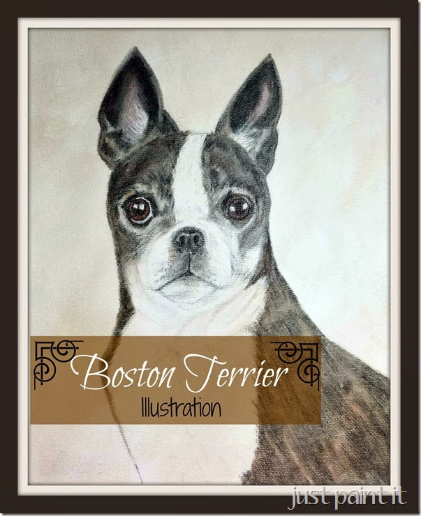 Boston Terrier Sketch and French Onion Dip