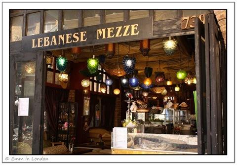Lebanese Mezze Stables Market Camden