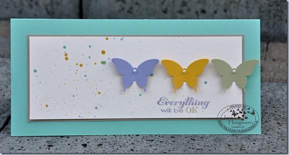 spetter kaart met vlinders