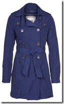 Hilfiger Denim Blue Trench Coat