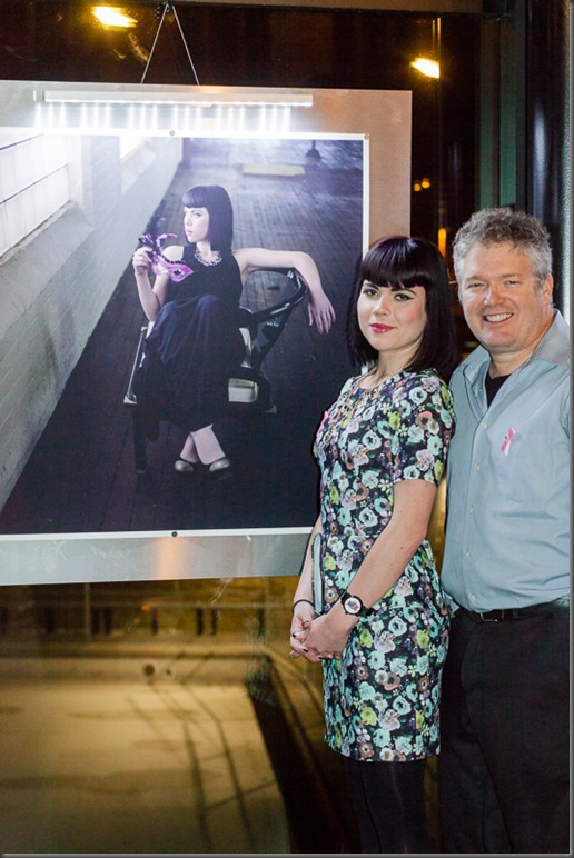 Photographer David A Gilmour with model Katya Dabic, with the winning image from the ONE competition.