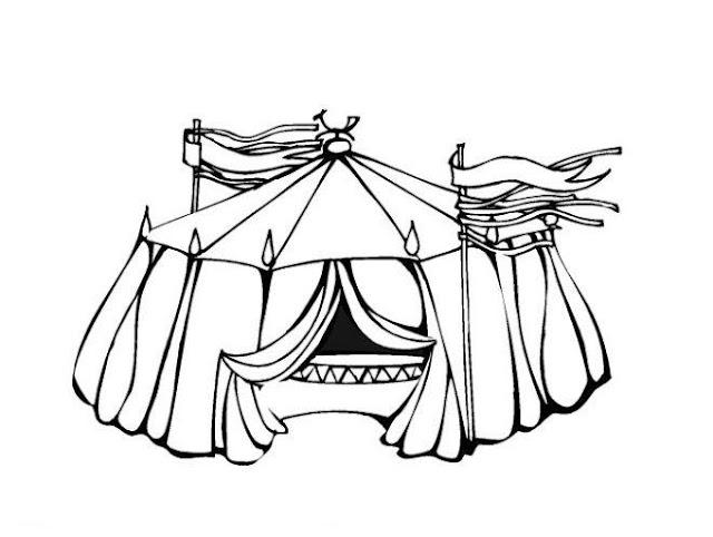 Dibujos del circo para colorear - Coloriage chapiteau ...
