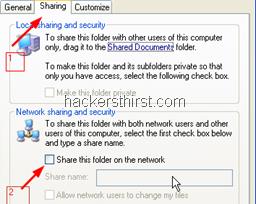 Windows XP sharing