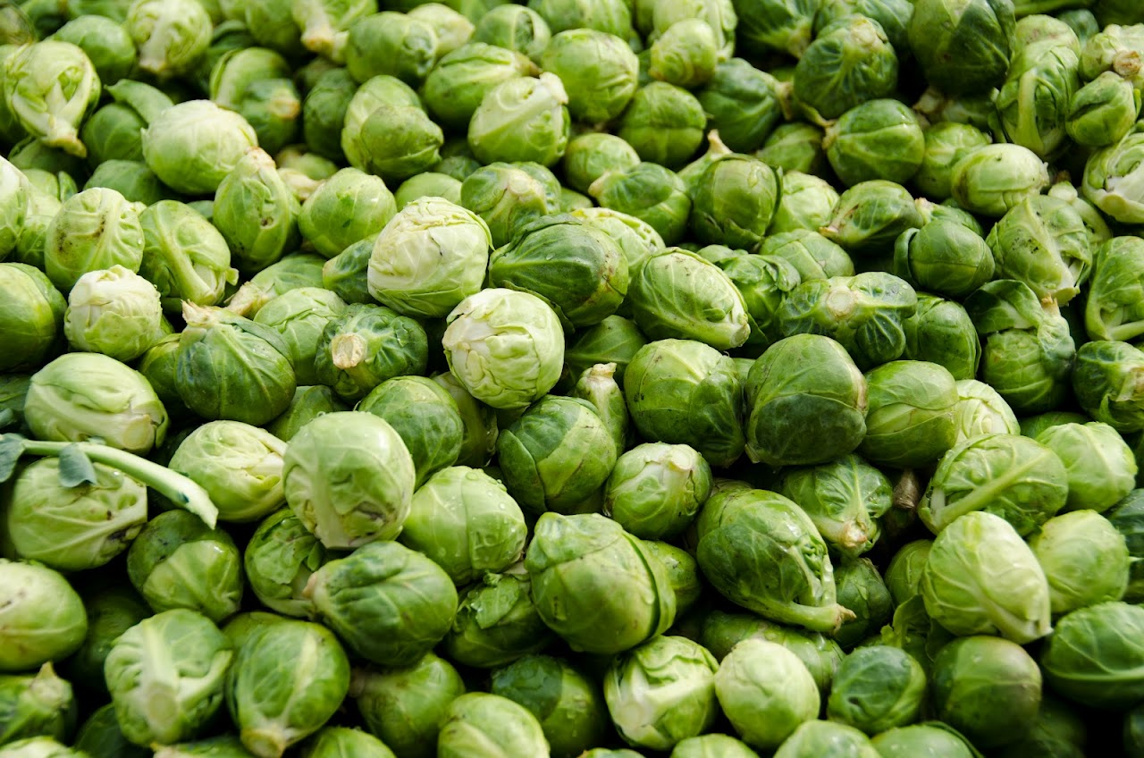Brussel sprouts at the Dolac market