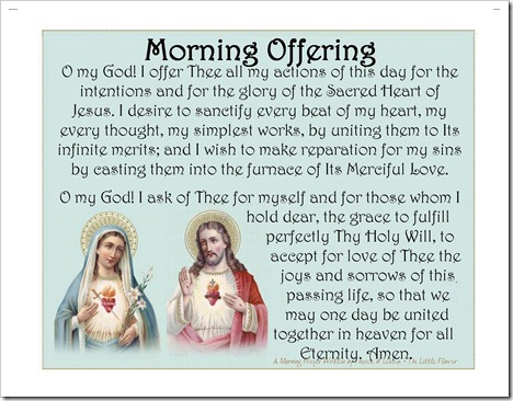 St. Therese's Morning Offering - Morning Offering Pillow Case image