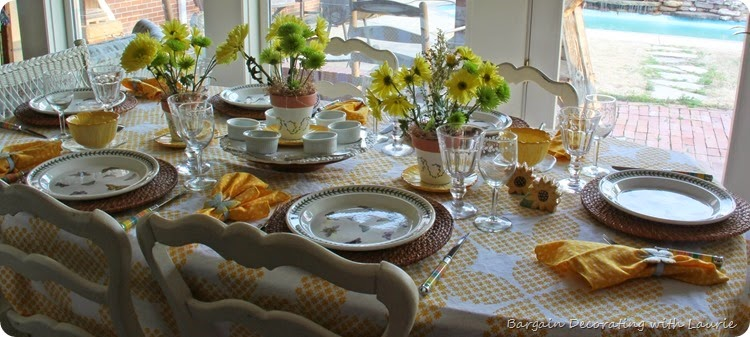 Sunshine Tablescape 9