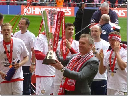 Johnstone's Paint Trophy Final (Sun 7-4-13) - Crewe manager Steve Davis (2)