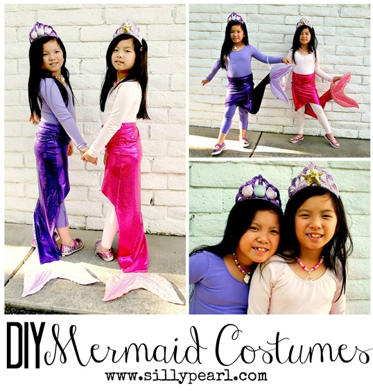 DIY Mermaid Costumes - The Silly Pearl