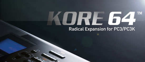 Kurzweil KORE 64 expansion for PC3 and PC3K