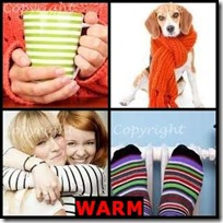 WARM- 4 Pics 1 Word Answers 3 Letters