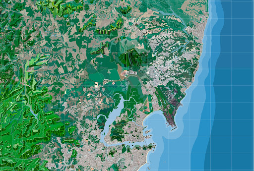 Mapa de Vitória - ES, 190 x 280 cm, 200 ppi.