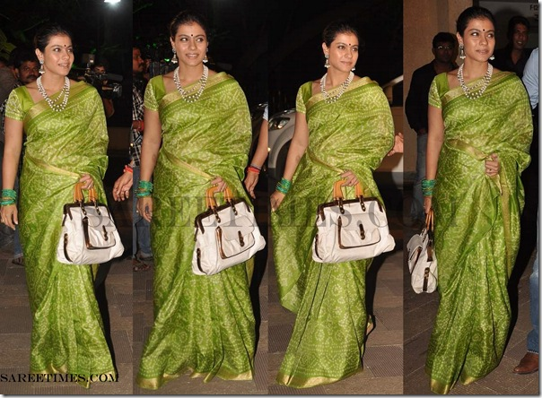 Kajol_Green_Designer_Saree