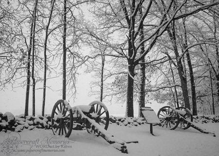 Gettysburg Snow 3--2-14 www.papercraftmemories.com